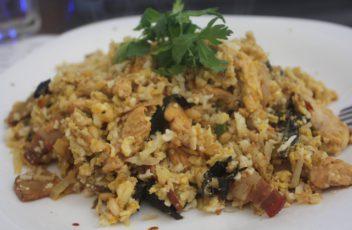 rizoto slanina,karfiol,persun,crna truba,malo kiselog kupusa,kurkume,supe od kostiju radi kremastije teksture vrsta pecurke ima jako inter dimljeni ukus